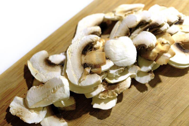 Funghi e legno tagliati immagini stock libere da diritti