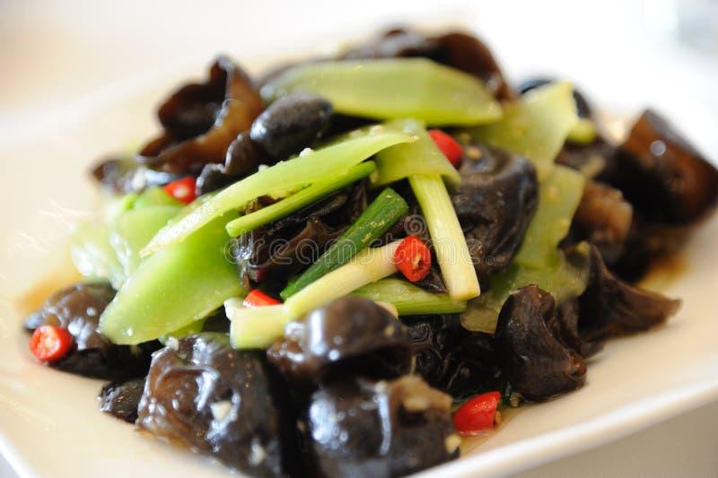 Fungo cinese del nero di cucina immagine stock libera da diritti