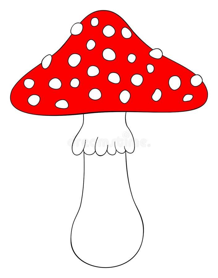 Fungo del fungo del fumetto Icona del fungo Illustrazione di vettore illustrazione vettoriale