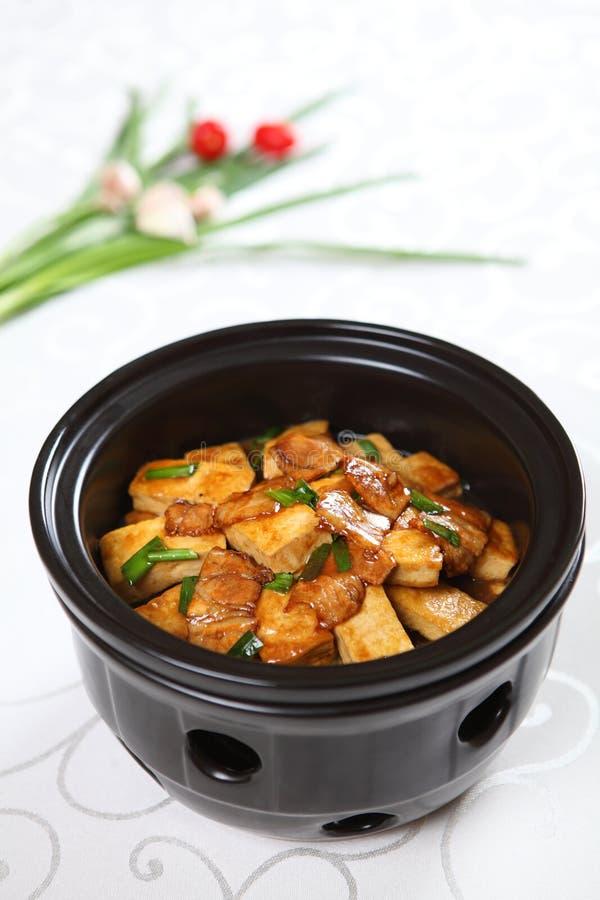 Alimento cinese - tofu brasato fotografia stock