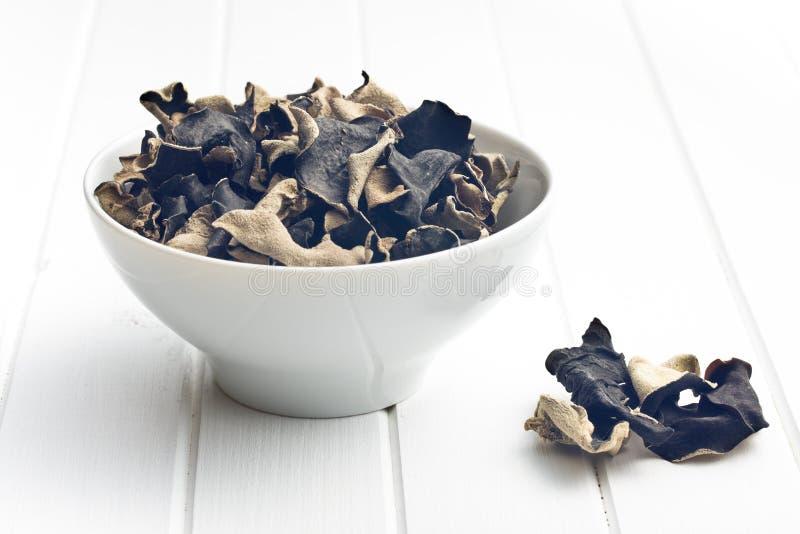 Fungo nero cinese secco Orecchio della gelatina immagine stock libera da diritti