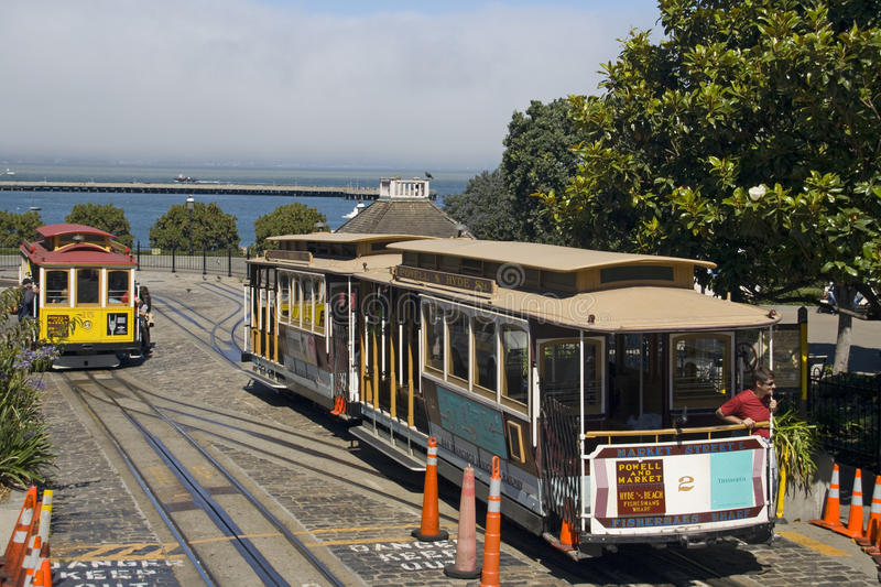 Funiculaire à San Francisco images stock