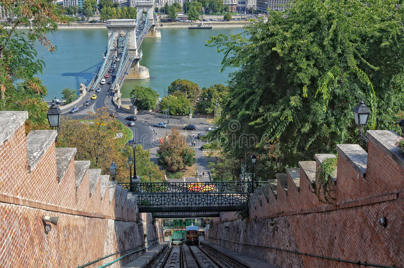 Funiculaire - Budapest photo stock
