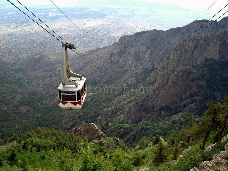 Funiculaire de montagne de Sandia photo stock
