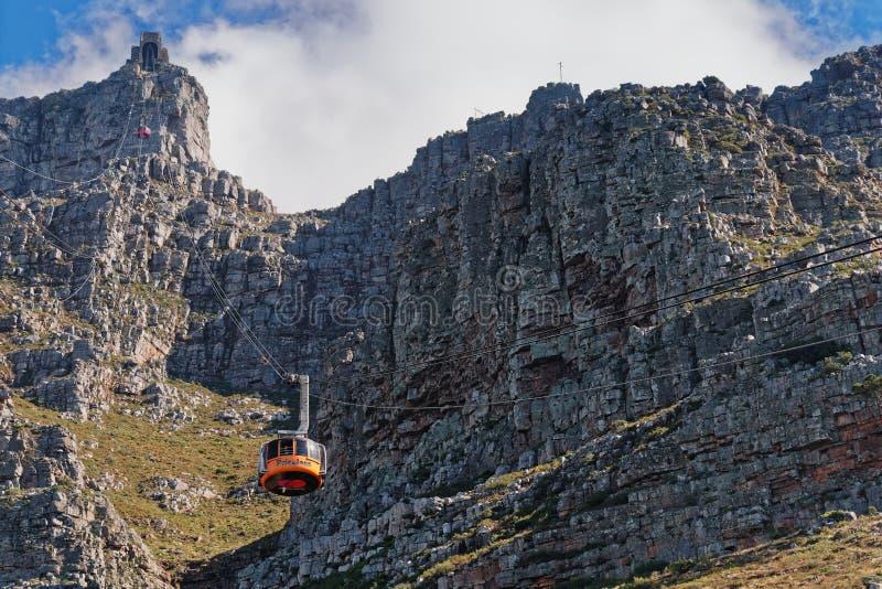 Funiculaire de montagne de Tableau, Cape Town Afrique du Sud photographie stock