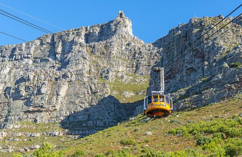 Funiculaire de montagne de Tableau, Cape Town images libres de droits