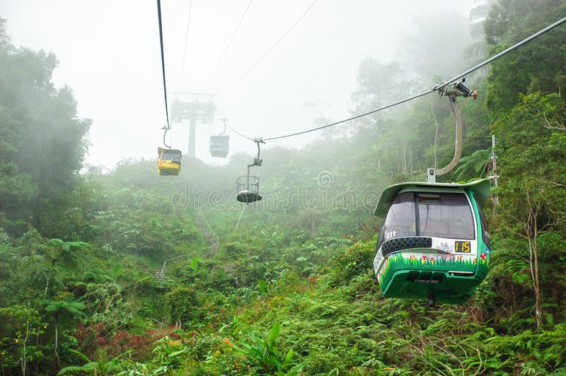 Funiculaire de Skyway, genting photographie stock