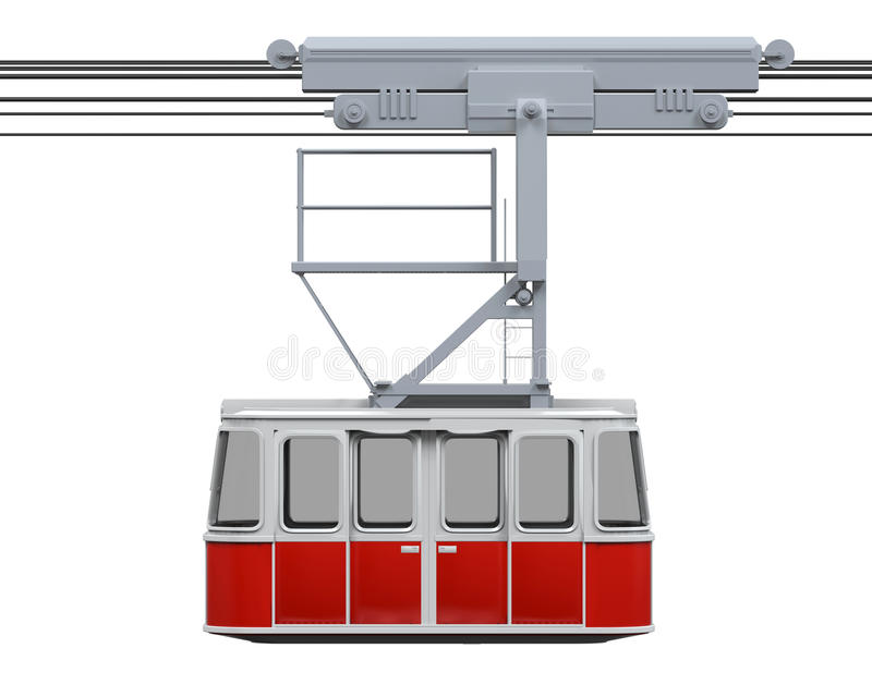 Funiculaire rouge illustration stock