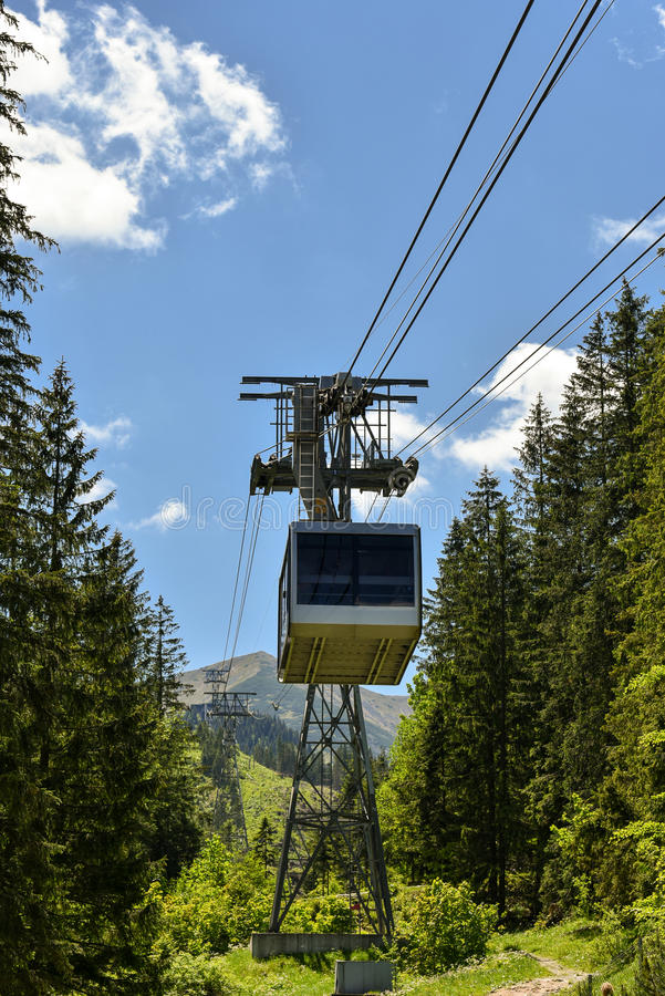 Funiculaire, Zakopane, Pologne photographie stock