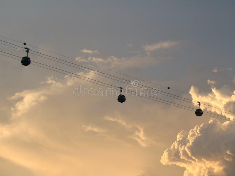 Funiculaires (coucher du soleil) images libres de droits