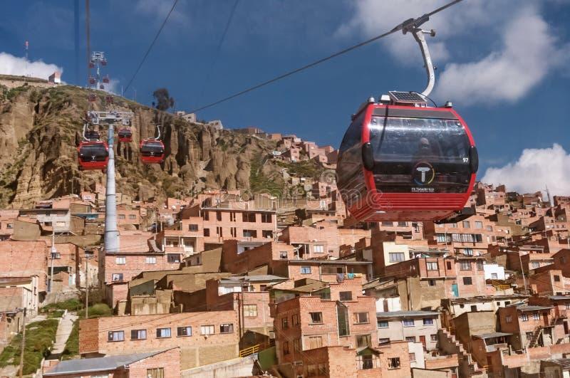 Funiculaires dans La Paz bolivia photo libre de droits