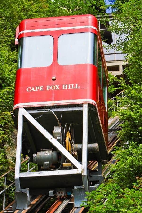 Funicular da rua da angra de Alaska Ketchikan imagens de stock