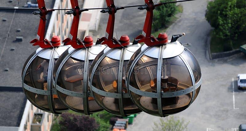 Funicular em Grenoble fotografia de stock