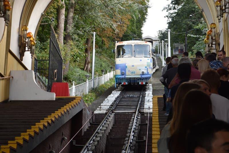 Funicular en Kiev imagenes de archivo