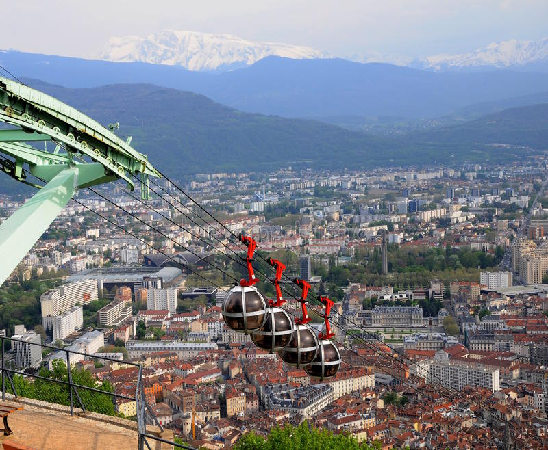 Funicular in Grenoble stock image