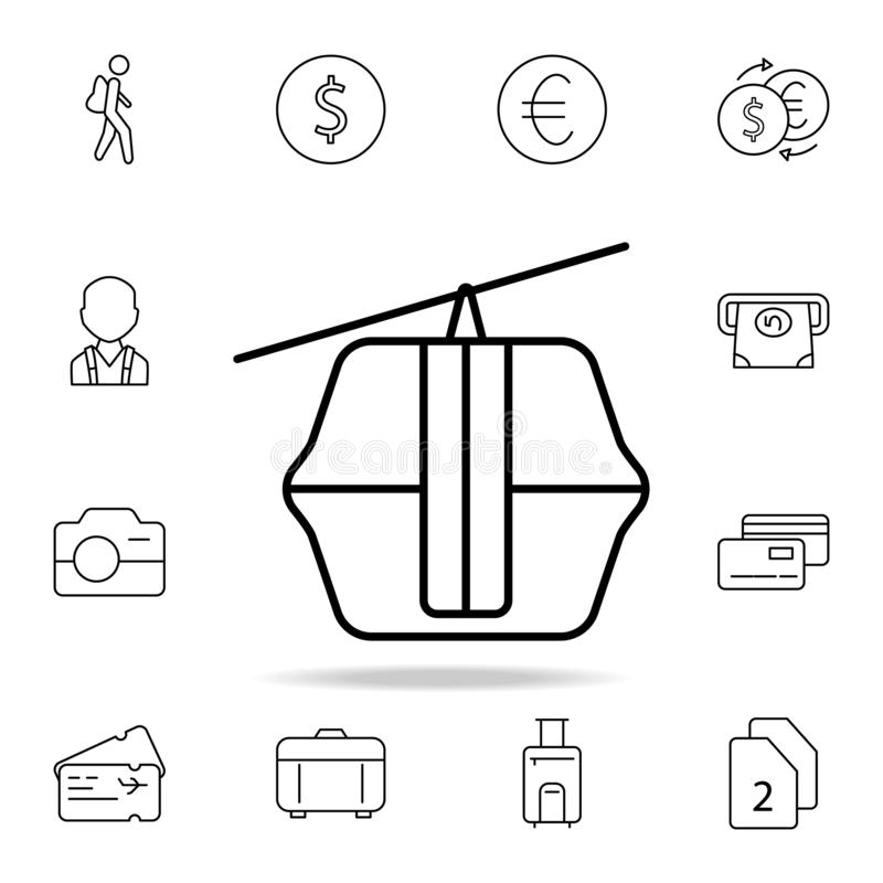 funicular icon. Element of simple icon for websites, web design, mobile app, info graphics. Thin line icon for website design and vector illustration
