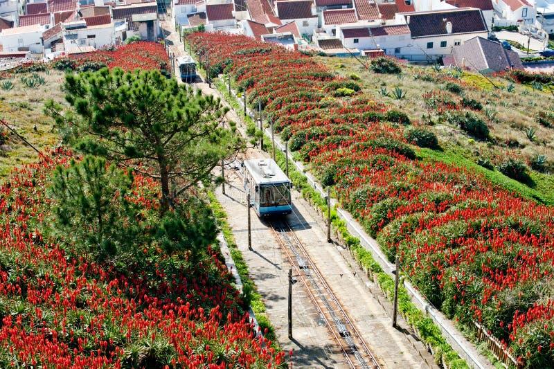 Download Funicular Kabiny W Nazare, Portugalia Zdjęcie Editorial - Obraz złożonej z nabrzeżny, nowożytny: 57660706