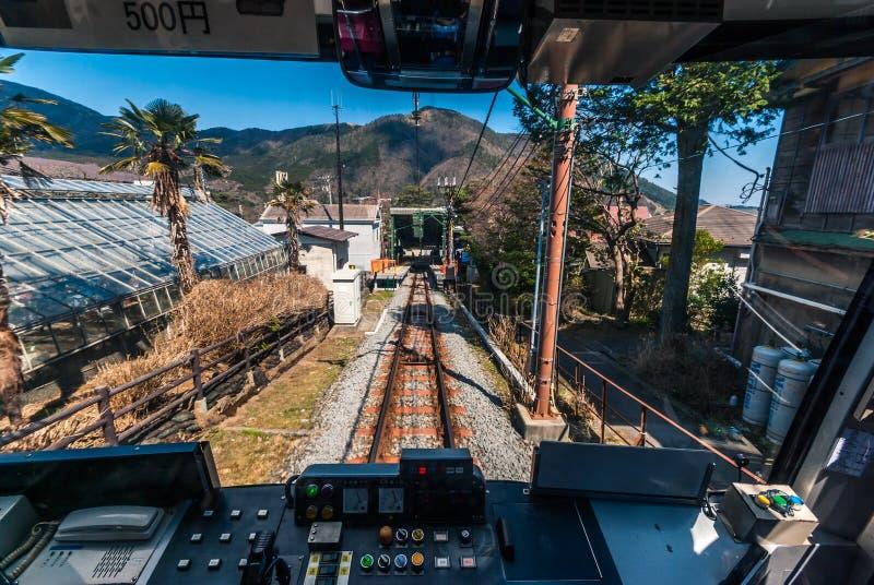 Funicular kolej w Hakone obraz stock