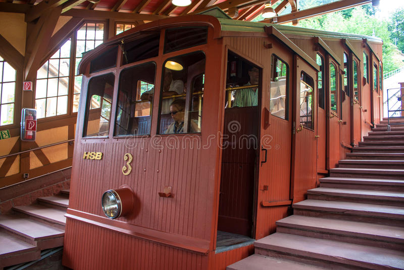 Funicular kolej w Heidelberg fotografia royalty free