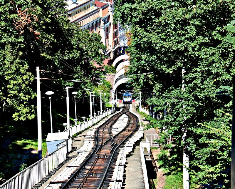 Funicular in Kyiv stock images