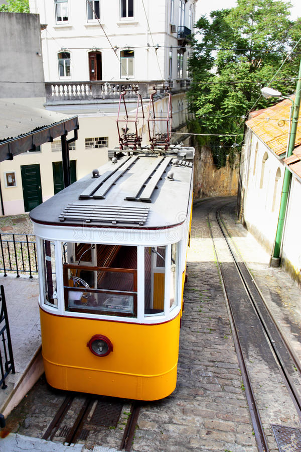 Download Funicular in Lisbon stock photo. Image of cityscape, electric - 24875332