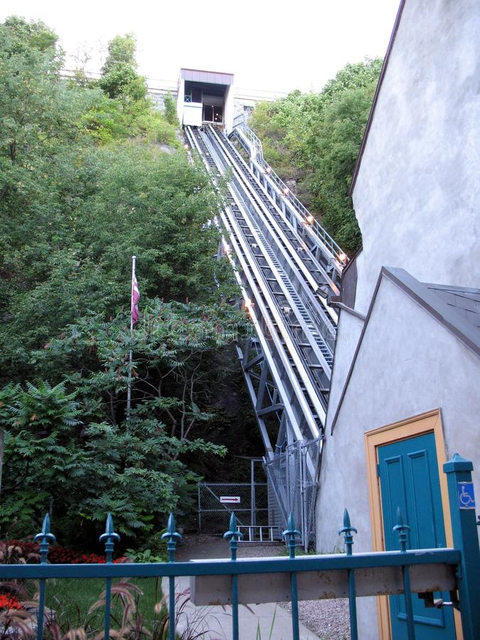 Funicular in Quebec city royalty free stock image