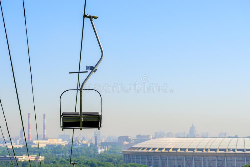 Funicular on the Sparrow Hills. In Moscow royalty free stock photo