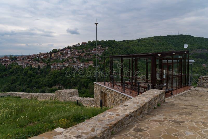 Funicular station in Trapezitsa fortress ruins. Veliko Tarnovo in Bulgaria.  royalty free stock images