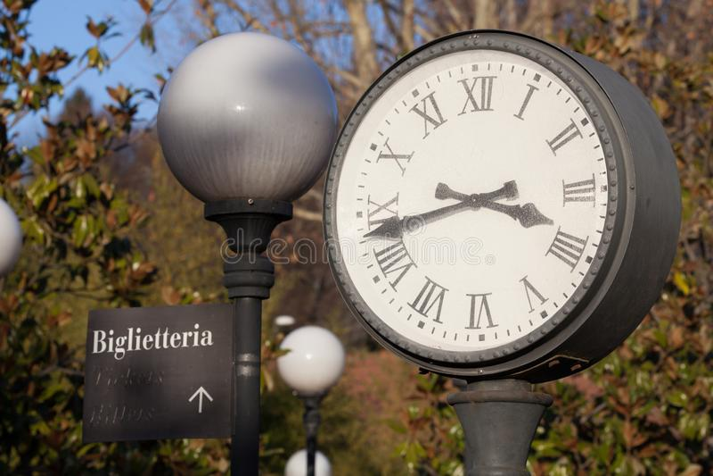 Funicular station Turin clock stock photography