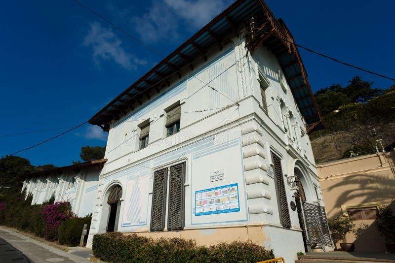 Funicular Tibidabo wzgórze obraz stock