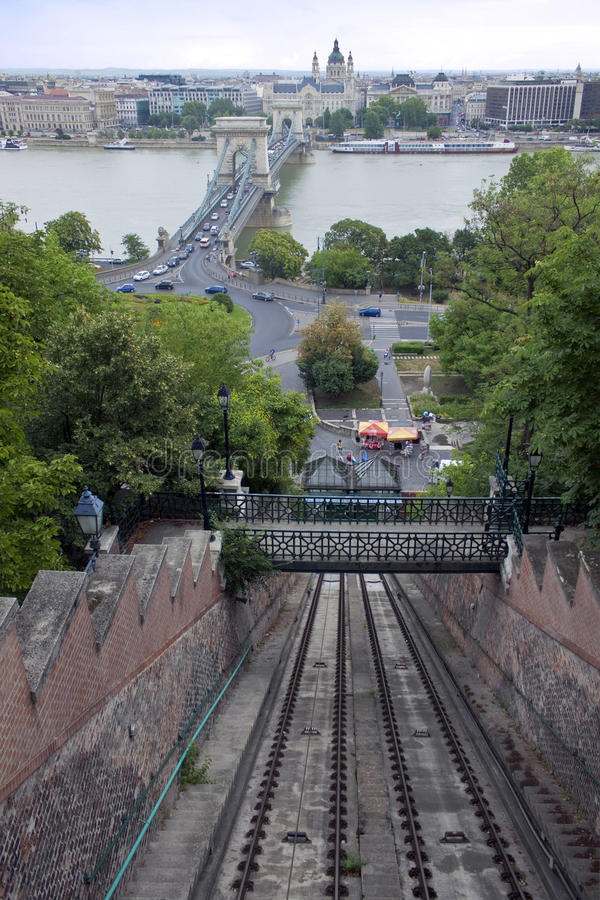 Download Funicular to Buda castle stock image. Image of architecture - 31613857