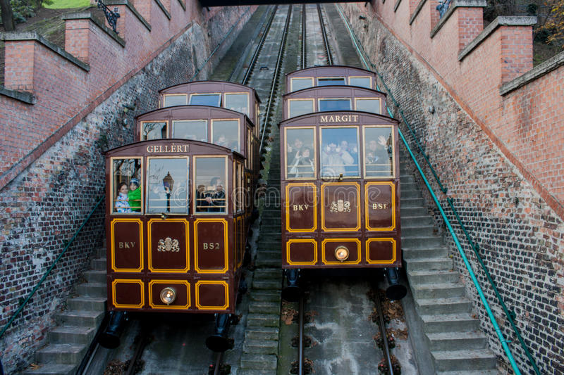 Download Funicular Tram Train, Budapest, Hungary Editorial Photo - Image of summer, place: 54287061
