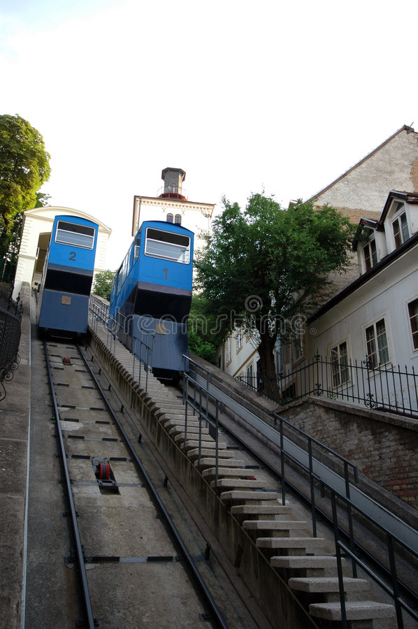 Download Funicular zagreb stock image. Image of town, architecture - 1072577
