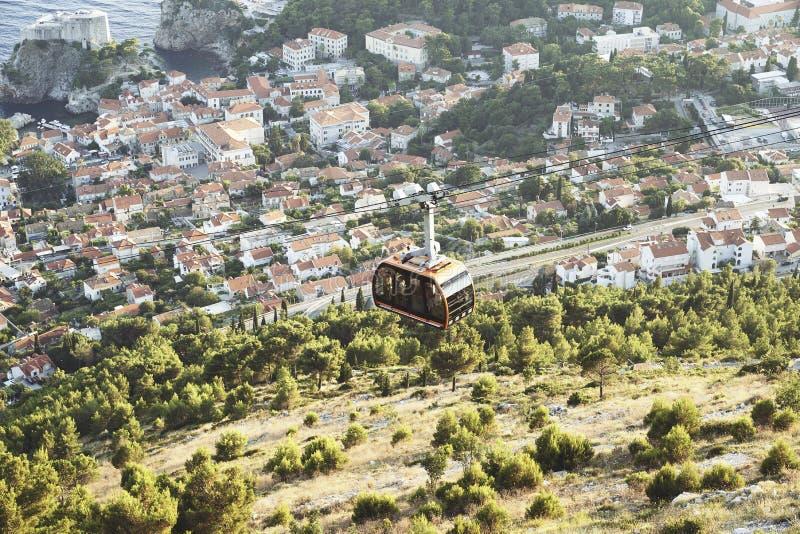 Funikulär in Dubrovnik kroatien lizenzfreie stockfotos