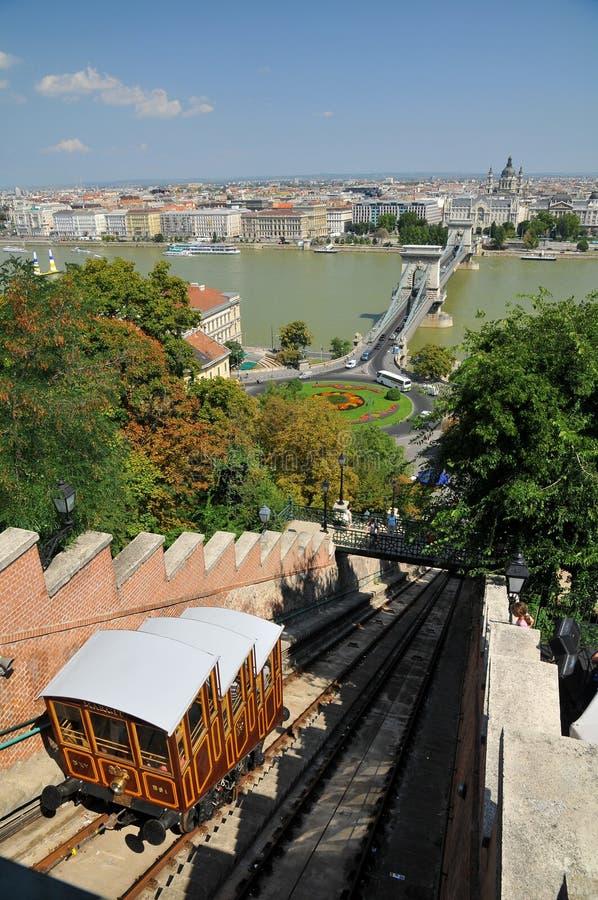 Funikuläres Palast-Gleis in Budapest lizenzfreie stockfotos