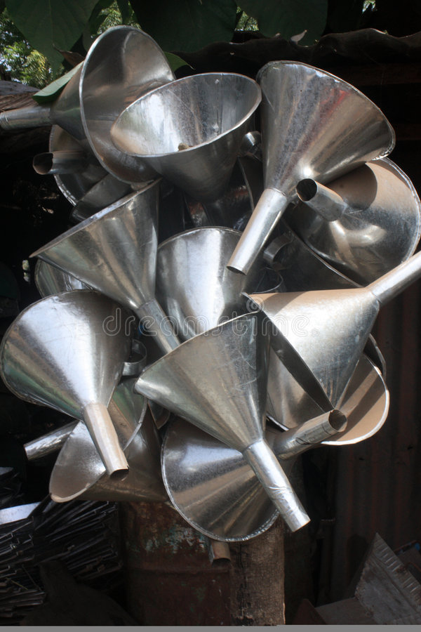 Funis do metal imagem de stock