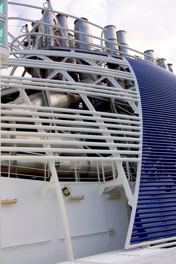 Funis do navio foto de stock