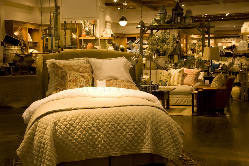 Funiture and home decor store stock image