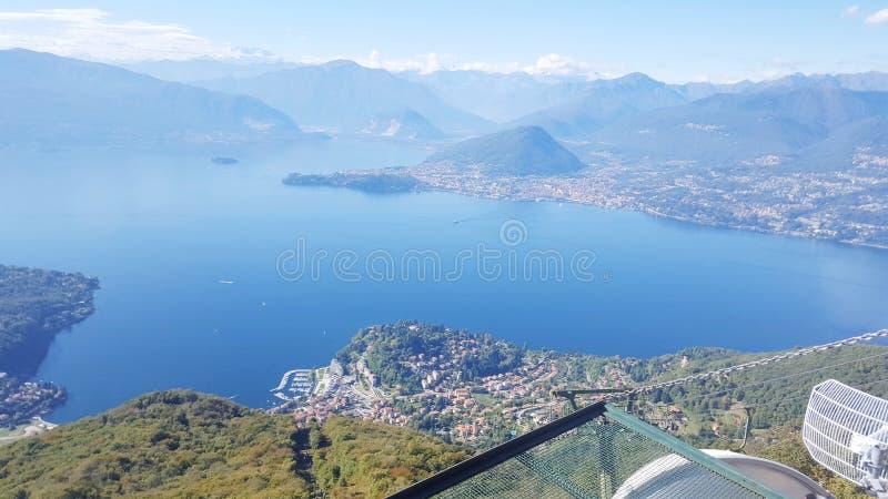 Funivia Laveno Italia fotografia stock