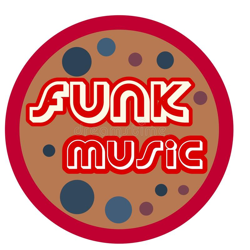 Funk music logo retro style. A retro vintage style funk music logo,ideal for flyers,funk nights, events,web pages,articles etc.The font is in a vintage style in vector illustration