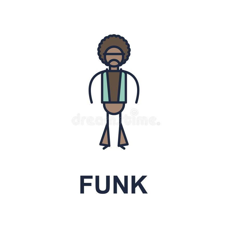 funk musician icon. Element of music style icon for mobile concept and web apps. Colored funk music style icon can be used for web stock illustration