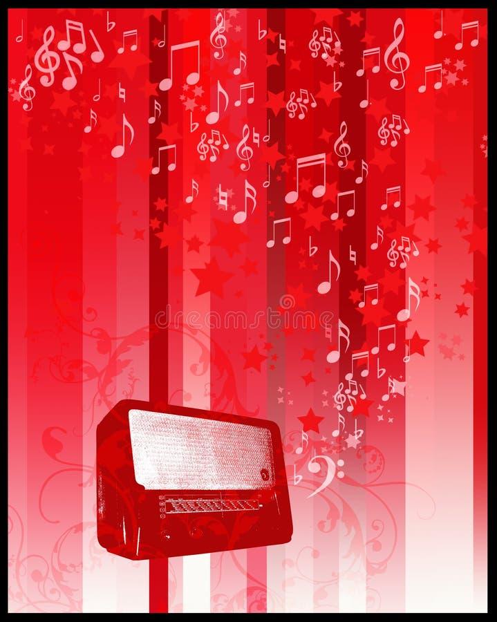 Funk und Sterne flayer lizenzfreie abbildung