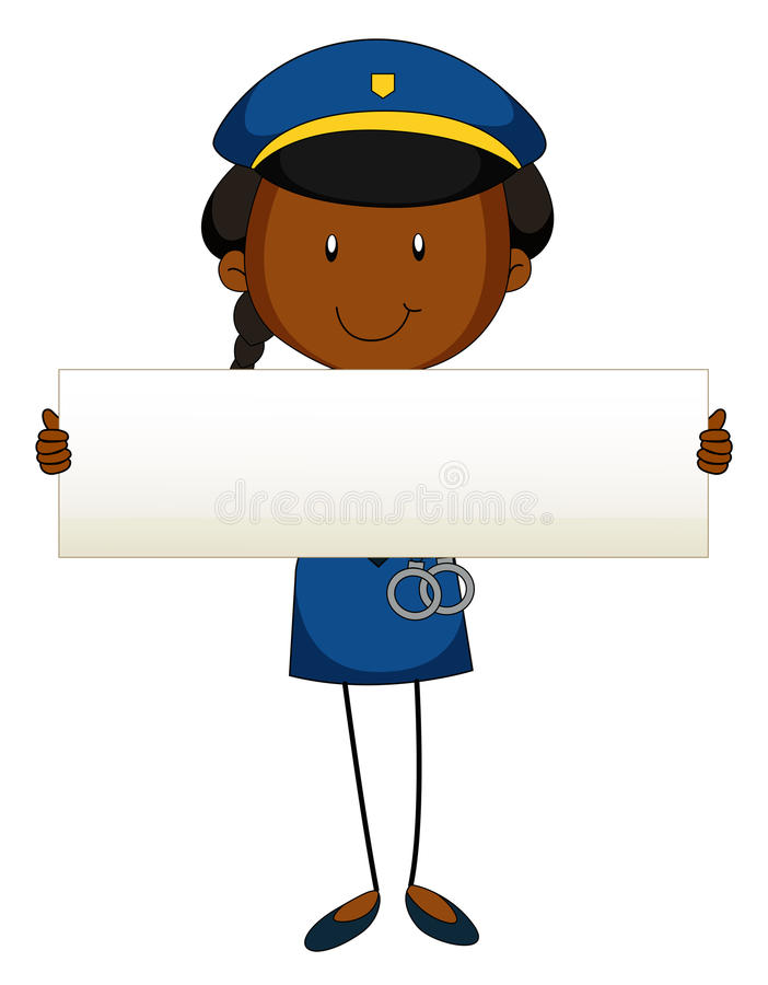 Funkcjonariusza policji mienia pustego miejsca znak royalty ilustracja
