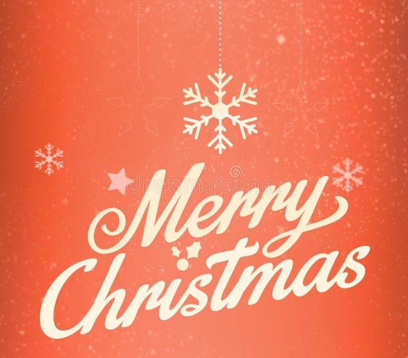 Funkelnde Briefgestaltung der frohen Weihnachten Gold lizenzfreie abbildung