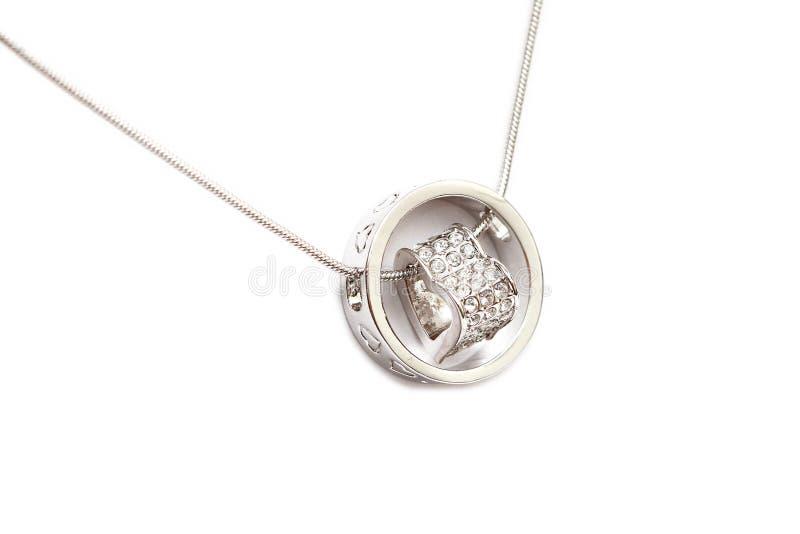 Funkelnde Diamant-Halskette stockfoto
