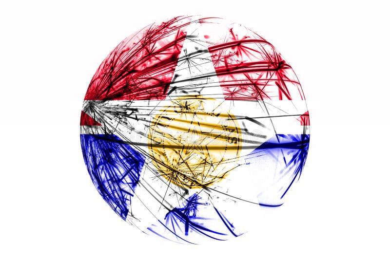 Funkelnde Flagge abstrakten Dallas, Illinois Amerikanisches Weihnachtsballkonzept lokalisiert auf weißem Hintergrund vektor abbildung