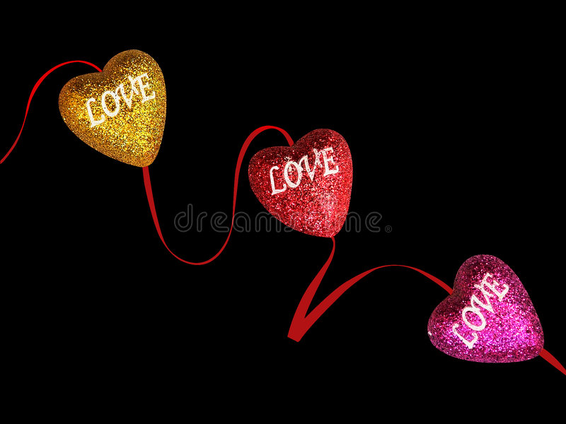 Funkelnde Innere der Liebe lizenzfreies stockbild