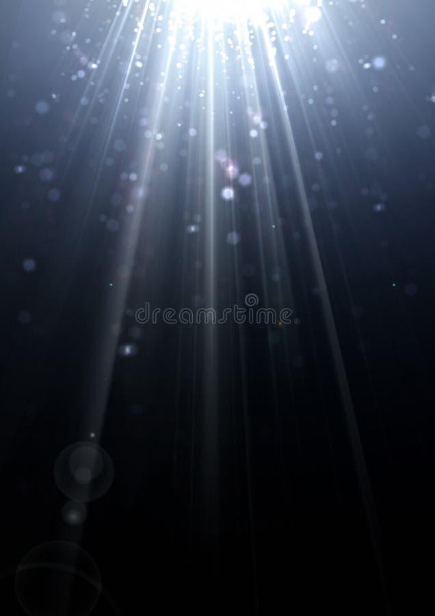 Funkelnde Lichtstrahlbeugung stockbild