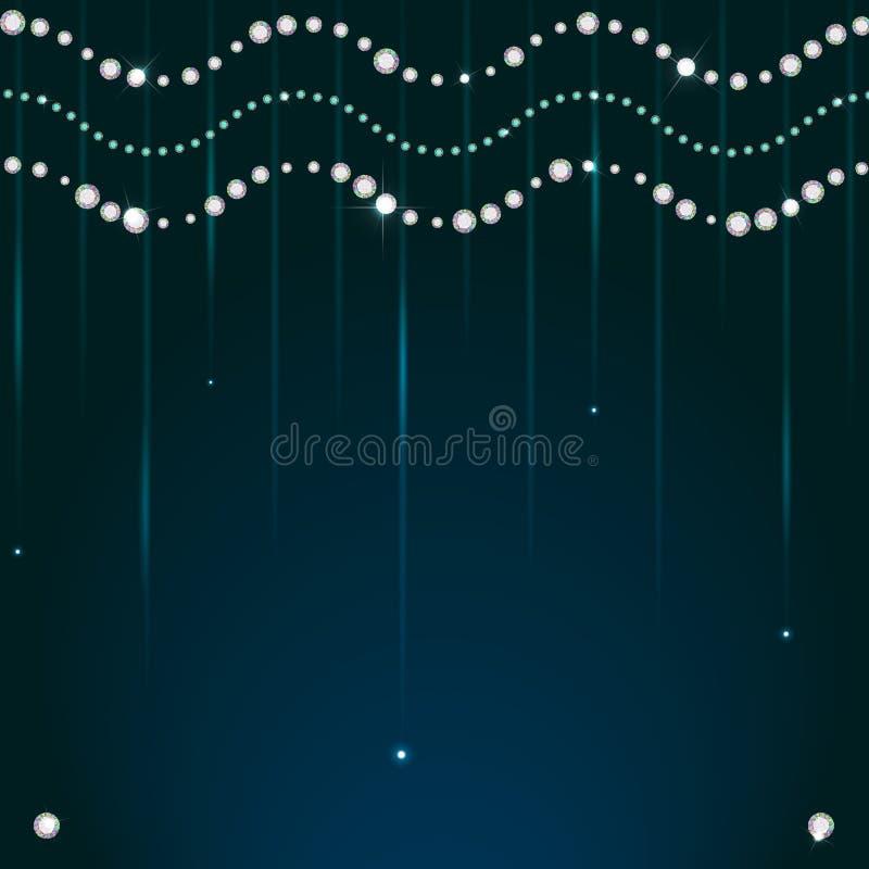 Download Funkelnde Perlen Des Diamanten Vektor Abbildung - Illustration von feier, celebrate: 47101434