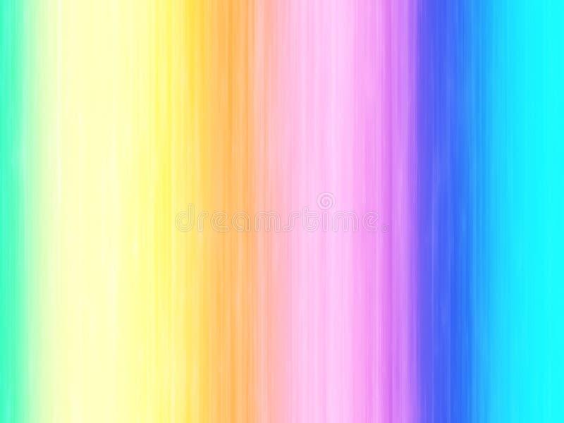Funkelnde Regenbogen-Duschen stock abbildung